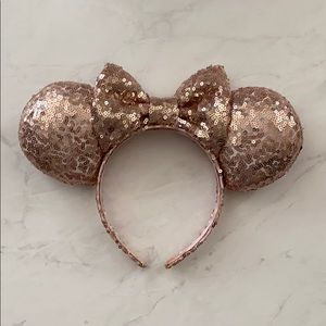Rose Gold Sequin Minnie Ears!